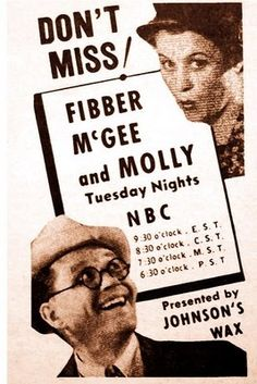 Probably one of the most beloved of old time radio shows, Fibber McGee & Molly.