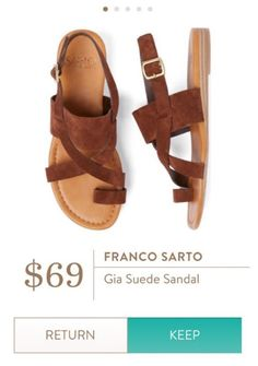 **** Franco Sarto Gia leather strap sandals. Pair with shorts or even the cutest maxis! Stitch Fix Fall, Stitch Fix Spring 2016 2017. Stitch Fix Fall Spring fashion. #StitchFix #Affiliate #StitchFixInfluencer
