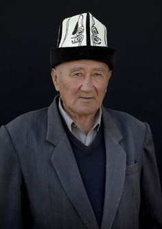 Old Man With A Kalpak Hat At The Animal Market In Kochkor, Kyrgyzstan by Eric Lafforgue, via Flickr