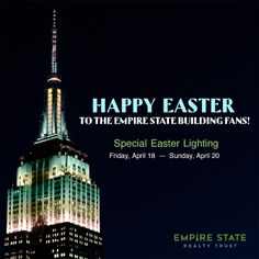 April 18-20, 2014: Our tower lights will shine in pastel fades to celebrate Easter weekend until Sunday.