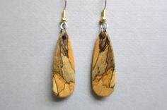Beautiful Spalted Tamarind small Exotic Wood drop Dangle Earrings ExoticWoodJewelryAnd handcrafted ecofriendly #bmecountdown