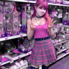 Cute Scene Girls, Scene Kids, Punk Outfits, Scene Girl Outfits, Pink Skirt Outfits, Harajuku Fashion, Gyaru Fashion, Kawaii Clothes, Alternative Outfits