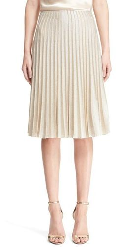Love this neutral beige and of course the micro pleats