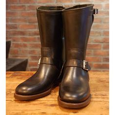 SnapWidget   CLINCH Engineer boots LAST : CN Horween horsebutt Size 8 ( US7 ) For SALE