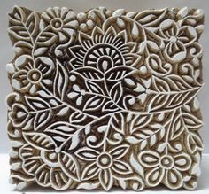 Indian Wooden Hand Carved Textile Printing on Fabric Block Stamp Fine Art Floral | eBay