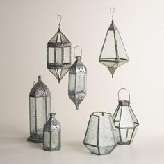 One of my favorite discoveries at WorldMarket.com: Antique Zinc and Glass Raya Lantern Collection
