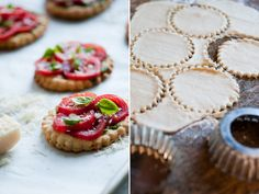 Great idea for my Tomato Tart recipe.  Could make them also for cute appetizers.