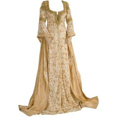 Medieval Dress ❤ liked on Polyvore featuring dresses, gowns, medieval, medieval dresses and costumes