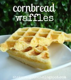 These corn bread waffles start with a box of Jiffy corn bread mix and your waffle iron - they come together quickly as the perfect side kick to soup or chili! Cornbread Waffles, Jiffy Cornbread Mix, Pancakes And Waffles, Cornbread Recipes, Homemade Cornbread, Jiffy Mix Recipes, Waffle Maker Recipes, Cinnamon Roll Waffles, Chocolate Waffles