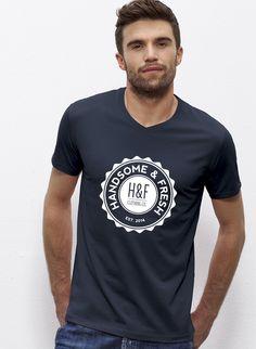 Brandon - Herren T-Shirt mit V-Ausschnitt