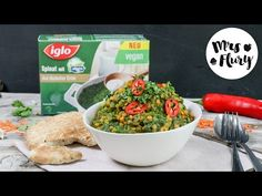 Spinat-Linsen-Curry vegan mit IGLO Spinat   Mrs Flury - Recipes. Lovely, Easy & with a healthy touch