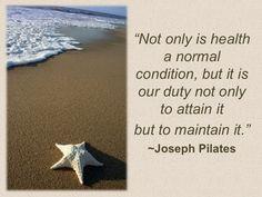 Quote from Joseph Pilates