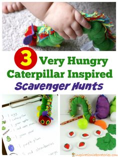3 Very Hungry Caterpillar Inspired Scavenger Hunts plus more activities from the Virtual Book Club for Kids