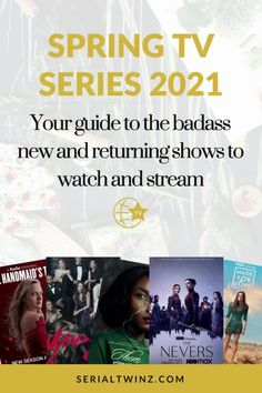 Hey Serial Fans and welcome to the Spring TV Series 2021: Your Guide To The Badass New And Returning Shows. In this guide, we are recommending you the best TV series to watch and stream this Spring. And in the Spring TV series 2021 guide, we have selected only the best badass new and returning shows premiering or released in April 2021. We selected fantasy, comedy, drama. action, dramedy, and more series. #TVSeries #TVShows #BestTVShows #ShowsToWatch Comedy Tv Series, Comedy Tv Shows, Tv Series To Watch, Unbreakable Kimmy Schmidt, The Mindy Project, Dead To Me, How I Met Your Mother, Orange Is The New Black, Parks And Recreation
