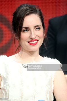 Actress Zoe Lister Jones speaks onstage during the 'Code Black' panel discussion at the CBS portion of the 2015 Summer TCA Tour at The Beverly Hilton Hotel on August 10, 2015 in Beverly Hills, California.