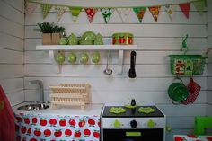 And how it all turned out #playhouse #play kitchen #garland