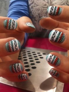 aztec nails WANT THESE