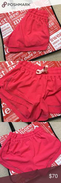 Lululemon shorts Perfect condition. Size 6. Hottie hot shorts I believe. Color is true to actual photos, not modeled. lululemon athletica Shorts