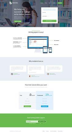 BF - Landing Page by Greg Dlubacz — Designspiration