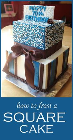 How To Frost a Square Cake