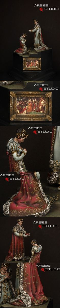 Consecration of the Emperor Napoleon I Detail pics by Arsies