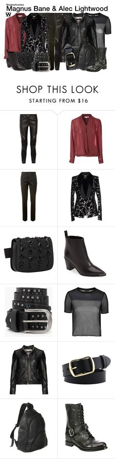 """""""Shadowhunters"""" by wearwhatyouwatch ❤ liked on Polyvore featuring Givenchy, Glamorous, Yves Saint Laurent, Just Cavalli, Marni, Acne Studios, Boohoo, Topshop, Cabrini and Le Donne"""