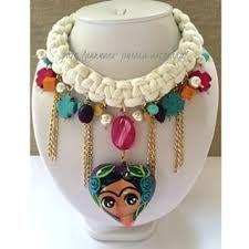Resultado de imagen para collares artesanales de frida kahlo