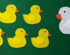 Felt Story - Five Little Ducks- Flannel Board Rhyme