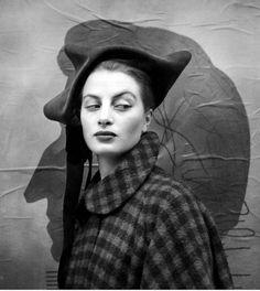 Richard Avedon - Capucine in Dior hat, 1949.