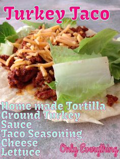 Healthy dinner turkey taco