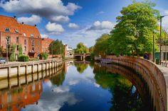 River Wensum at Fye Bridge Norwich UK