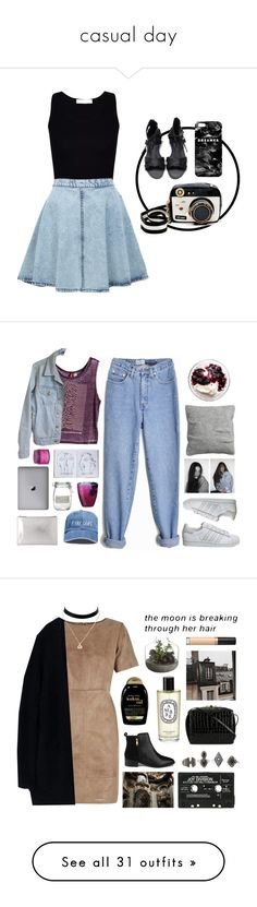 """casual day"" by amandamurillo545 ❤ liked on Polyvore featuring Miss Selfridge, Betsey Johnson, Mr. Gugu & Miss Go, American Apparel, adidas, H&M, Assouline Publishing, J by Jasper Conran, Whistles and Sara Happ"