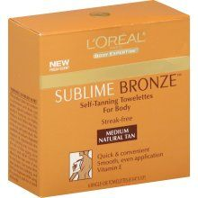 loreal sublime bronze towelettes- these are amazing!