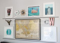 Behind the design of Ana's living room -- a good visual representation of how to make interesting gallery walls