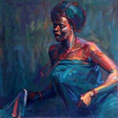 "africanartagenda: "" Edosa Ogiugo Country: Nigeria Style: Expressionism Medium: Oil/Acrylic on Canvas Fun Fact: Born in Ibadan in Nigeria's Edo state in 1961. He graduated as a Fine Arts Major from..."