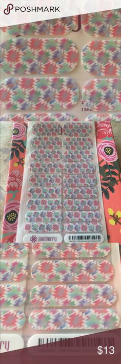 New!  Jamberry pastel Aztec nail wrap New full sheet Jamberry nail wrap.  Host exclusive wrap, mint, blue and pink Aztec design jamberry Other