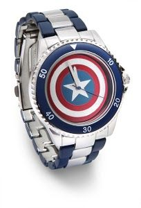 ThinkGeek :: Captain America Shield Watch....but there are many more pretties to choose from