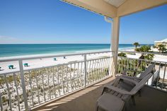 Back porch at Crystal Sands condominium in Destin, Florida -- does it get any better than this?