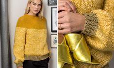 Rundstrikket bluse med let bærestykke - ALT. Facon, Alter, Color Blocking, Knitting Patterns, Men Sweater, Let It Be, Sweaters, Inspiration, Blouse