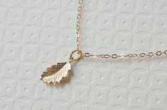 Gold Leaf Neklace Gold Filled Leaf Necklace by CrinaDesign73, $24.00