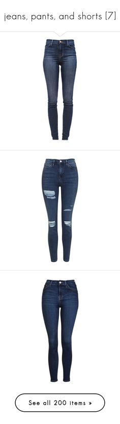 """""""jeans, pants, and shorts [7]"""" by nikki-usmc92 ❤ liked on Polyvore featuring jeans, pants, bottoms, calças, super high-waisted skinny jeans, blue skinny jeans, ripped jeans, destroyed skinny jeans, distressed jeans and topshop"""