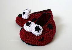 Baby ladybug booties (64) - via @Craftsy 4.99
