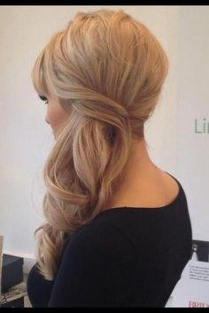 Bride's hair.