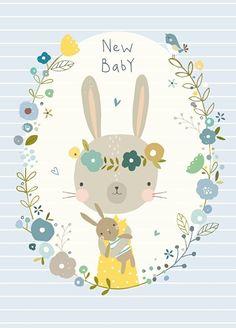 Nikki Upsher 'Ansichtkaart New Baby Blue'