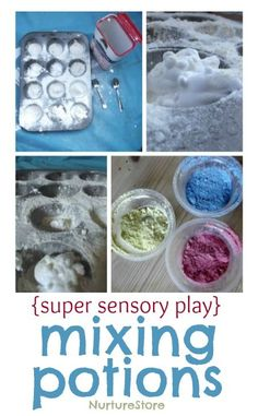 A super idea for sensory play : mixing potions!