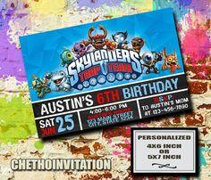 Skylanders Invitation / Skylanders Birthday / by CETHOinvitation