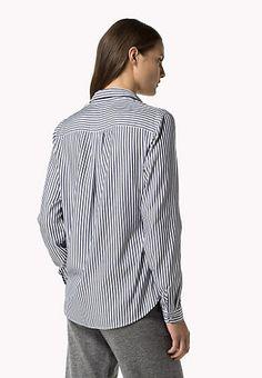 Cotton Modal Striped Shirt
