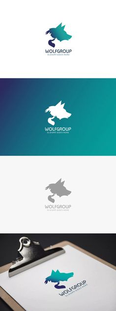 Wolf Group Logo Template AI, EPS