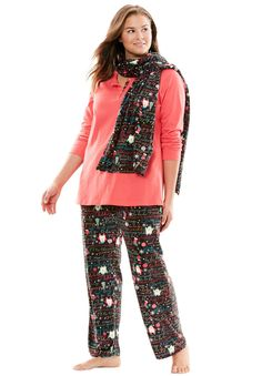 50dbe0522f 3-Piece Pajama Set by Dreams  amp  Co. - Women s Plus Size Clothing
