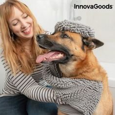 The new InnovaGoods Home Pet ultra absorbent pet towel will be really useful when you wash your pet! This towel is comfortable and practical to dry Love Your Pet, Your Dog, Dog Wash, Hygiene, Large Animals, Towel, Dogs, Things To Sell, Discount Price